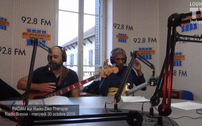 Radio Ziko Thérapie sur radio Bresse avec PADAM